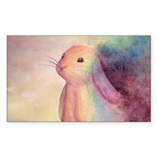 Rainbow Rabbit Bumper Stickers