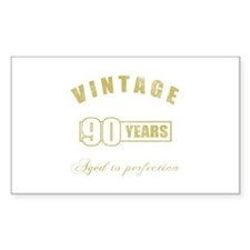 Vintage 90th Birthday Decal