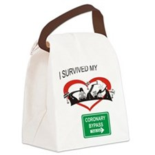 I survived my coronary bypass Canvas Lunch Bag