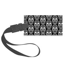 Sugar Skull Black Luggage Tag