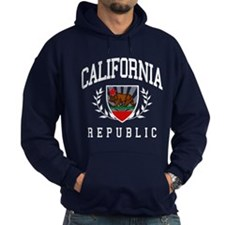 California Flag Crest (distressed design) Hoodie