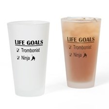 Trombonist Ninja Life Goals Drinking Glass