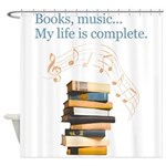 Books and music Shower Curtain