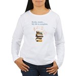 Books and music Long Sleeve T-Shirt
