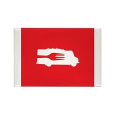 Food Truck: Side/Fork (Red) Magnets
