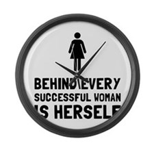 Successful Woman Large Wall Clock