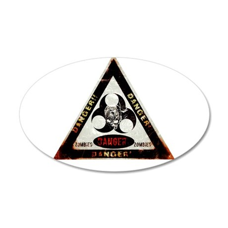 Zombie Danger sign Wall Decal