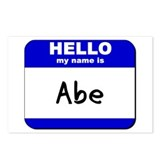 hello my name is abe  Postcards (Package of 8)