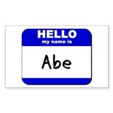 hello my name is abe Rectangle Decal