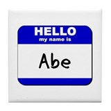 hello my name is abe  Tile Coaster