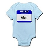 hello my name is abe  Infant Bodysuit