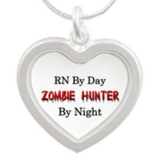 RN/Zombie Hunter Silver Heart Necklace