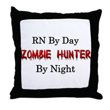 RN/Zombie Hunter Throw Pillow