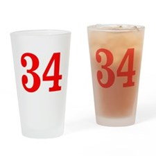 RED #34 Drinking Glass