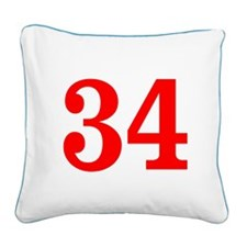 RED #34 Square Canvas Pillow