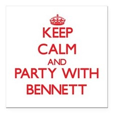 Keep calm and Party with Bennett Square Car Magnet