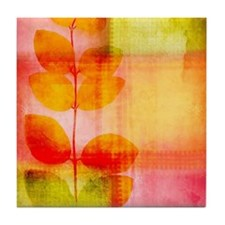Pretty leaves Tile Coaster