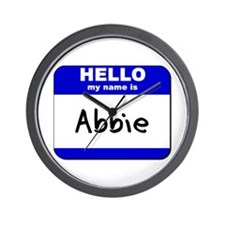 hello my name is abbie  Wall Clock