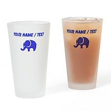 Custom Blue Elephant Drinking Glass