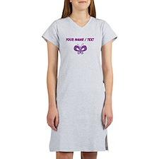 Custom Purple Butterfly Women's Nightshirt