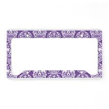 Sugar Skull Purple License Plate Holder