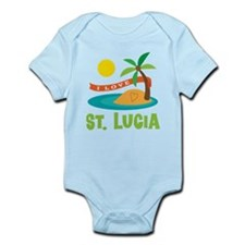 I Love St. Lucia Infant Bodysuit