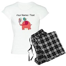 Custom Red Elephant And Bird Pajamas