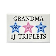 Grandma of Triplets (Boys, Girl) Stars Rectangle M