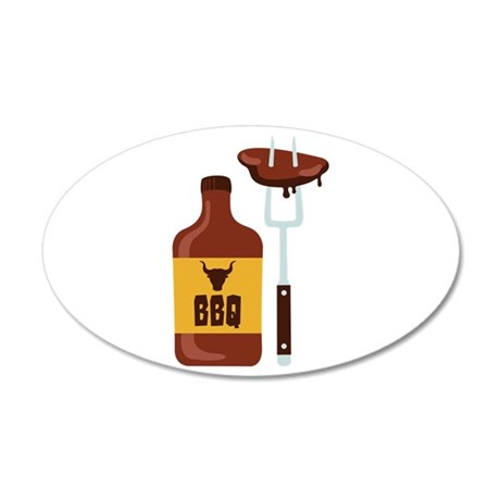 Barbeque Sauce Meat BBQ Wall Decal