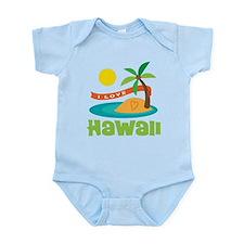 I Love Hawaii Infant Bodysuit