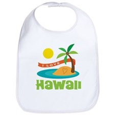 I Love Hawaii Bib