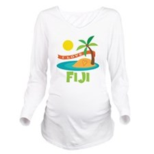 I Love Fiji Long Sleeve Maternity T-Shirt