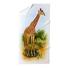 Vintage Giraffe Beach Towel