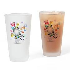 social media technologie Drinking Glass