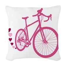 Bike Love Woven Throw Pillow