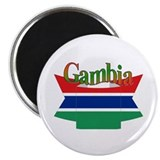 Gambian flag ribbon Magnet