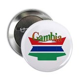 Gambian flag ribbon Button