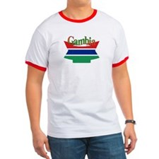 Gambian flag ribbon T