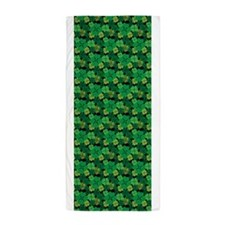 Four Leaf Clover St Patricks Day Luck Beach Towel
