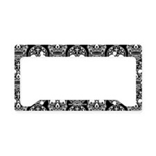 Sugar Skull Black License Plate Holder