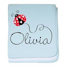 Ladybug Olivia baby blanket