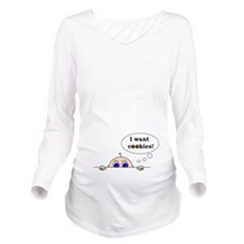 I want cookies! Long Sleeve Maternity T-Shirt
