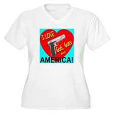 I Love God, Guns and America! T-Shirt