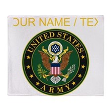 Custom U.S. Army Symbol Throw Blanket