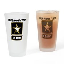 Custom U.S. Army Gold Star Logo Drinking Glass