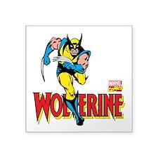 """Wolverine Running Square Sticker 3"""" x 3"""""""