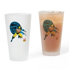 Wolverine Circle Drinking Glass