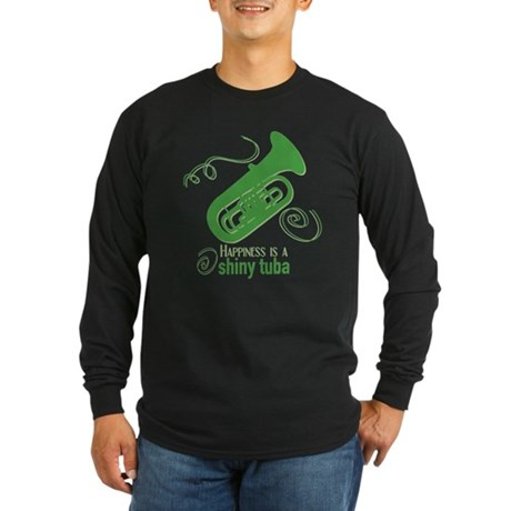 Shiny Tuba Long Sleeve Dark T-Shirt