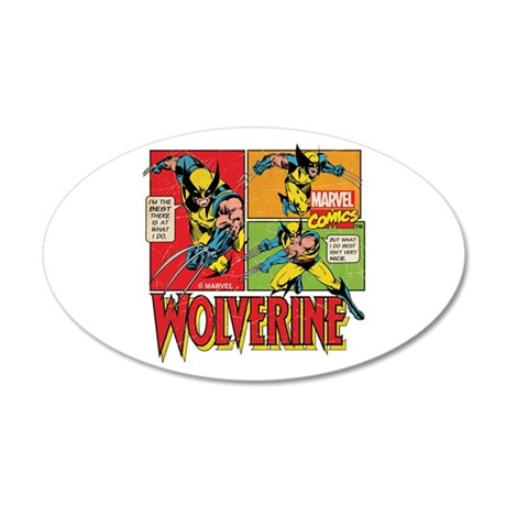 Wolverine Comic 35x21 Oval Wall Decal