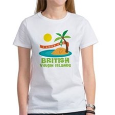 I Love The British Virgin Islands Tee